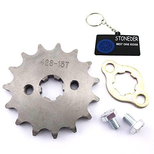 STONEDER 428 15 dientes 17 mm cadena delantera engranaje para 50 cc, 70 cc, 90 cc, 110 cc, 125 cc, 140 cc, 150 cc, 160 cc, ATV, Pit Dirt Trail Bike