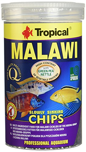 Aquatic Paradise Tropical Malawi Mbuna Chips Special for Malawi Slowly Sinking – Multi-Ingredient Food for Daily Feeding 1000 ml/520G