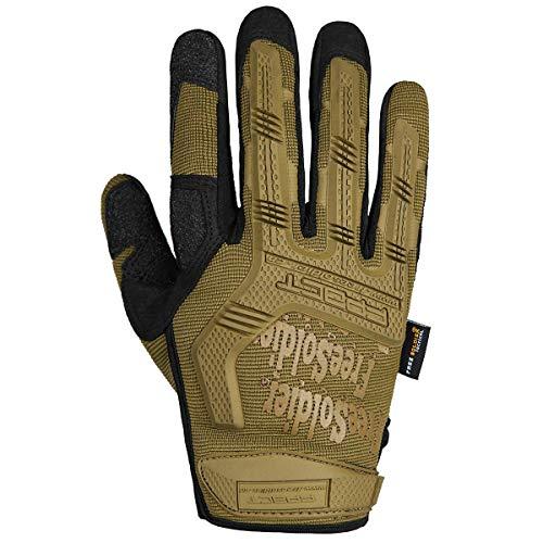 FREE SOLDIER Sport Handschuhe Taktische Motorradhandschuhe Herren Vollfinger Handschuhe mit gepolstertem Ideal für Fahrrad Airsoft Militär Paintball Kletter und andere Outdoor Aktivitäten Braun XL