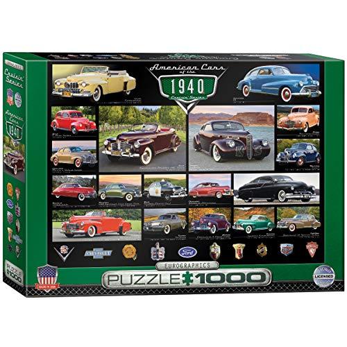 ジグソーパズル 1000ピース ユーログラフィックス 1940年代のアメリカの自動車 6000-0675