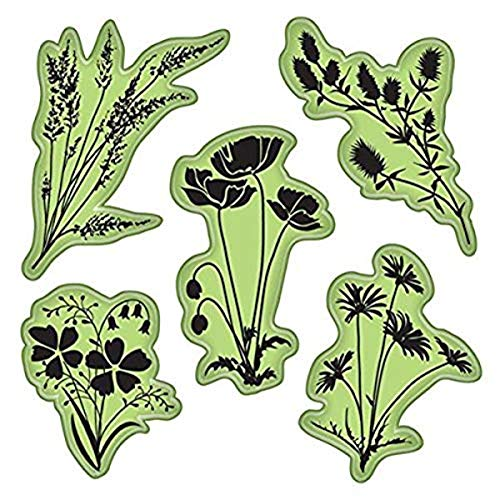 Inkadinkado 65-32080 Stamping Gear Cling Stamps, Meadow Flowers