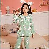 WEDFGX Children's Pajamas WinterThick Clothes Children's Flannel Pajamas Girls Boys Clothes Warm Pajamas Kids Pajamas