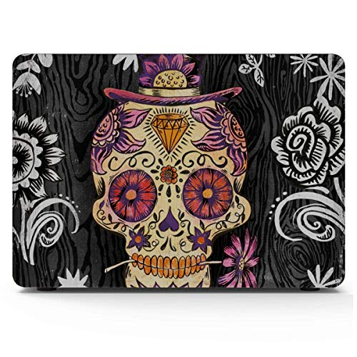 2018 MacBook Pro Accessories Portfolio Canvas Decor Sugar Skull Daisy by Geoff MacBook Accessories 13 Inch Hard Shell Mac Air 11'/13' Pro 13'/15'/16' with Notebook Sleeve Bag for MacBook 2008-2020 V