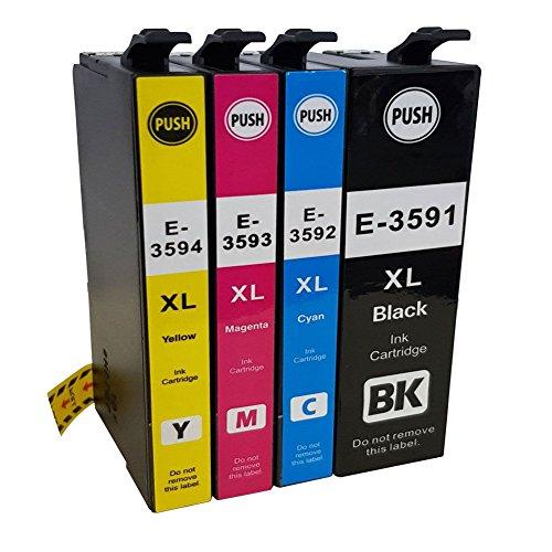 befon 35 XL Tintenpatronen Ersatz für Epson 35 35 x l Tinten Patronen mit einen neumodischen Chip & Füllstandsanzeige kompatibel mit Epson 35 x l Drucker Tintenpatronen für Epson Workforce Pro wf-4720dwf