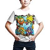 ZONVENL Superzings Camiseta Imprimir Dibujos Animados Camiseta Libre de la Camiseta de Moda del diseño de la Camiseta for niños y niñas Hombres (Color : A22, Size : S)