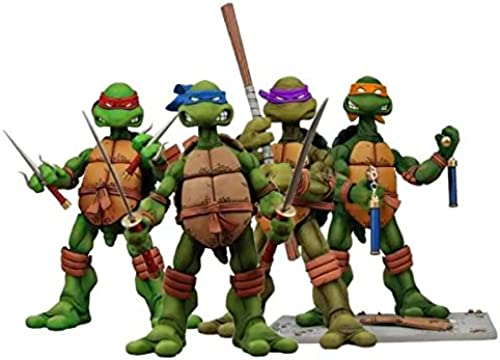 BringUGood NECA TMNT Teenage Mutant Ninja Turtles Action Figuren in Tube Verpackt Set von 4