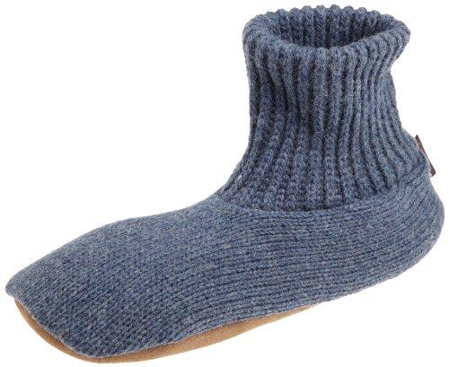 MUK LUKS Men's Ragg Wool Slipper, Denim, XX-Large(13-14)