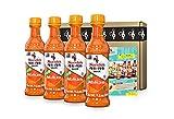 Nando's Medium PERi-PERi Sauce - Medium Heat Flavorful Hot Sauce | Gluten Free | Non GMO | Kosher - 9.1 Oz (4 Pack)