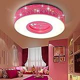 LYXG Kinder im Zimmer der Mädchen Schlafzimmer Licht LED Deckenleuchte Prinzessin warme Zimmer Sterne romantische runden Leuchten, 40cm
