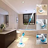 MG SALESS Powerful Electric Spin Brush Scrubber Cleaning Machine Floor Bathroom Tiles Cleaner