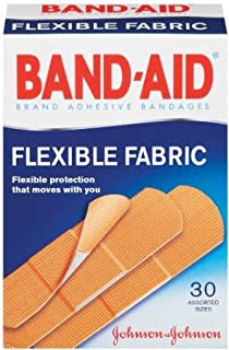Band-Aid Brand Adhesive Bandages, Flexible Fabric, Assorted Sizes, 30-Count Boxes (Pack of 2)