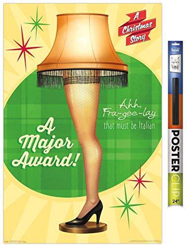 Trends International Christmas Story-Lamp Wall Poster, 22.375' x 34', Poster & Clip Bundle