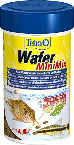 Tetra Wafer Mini Mix - Fischfutter für alle Bodenfische (z.B. Welse) und Krebse, für gesundes Wachstum und eine bessere Widerstandskraft, 100 ml