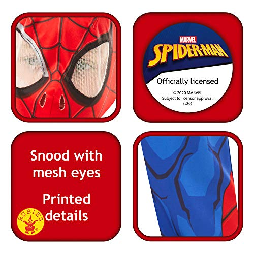 RUBIE'S Marvel Spider-Man Classic Child Costume, Blue-Red,M (5 - 6 years / 116cms)