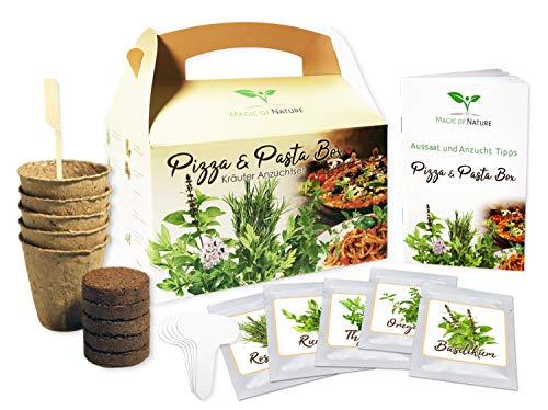 Pizza & Pasta Box - Kräuter Anzuchtset - zum Selberzüchten oder zum Verschenken - eine originelle Geschenkidee für praktisch jeden Anlass