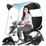 ZZZR Cubierta de sombrilla de Motocicleta eléctrica Universal, Cubierta Impermeable de Lluvia para Scooter, Cubierta de Paraguas de Dosel de Coche con batería