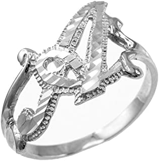LA BLINGZ Sterling Silver Libra Zodiac Sign October Birthstone Pink CZ Ring