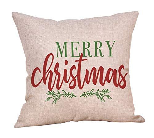 DQGZYF Happy kussenset Engels alfabet kussensloop katoen linnen sofa kussensloop huishoudelijke draaibank decoratie 45 * 45cm
