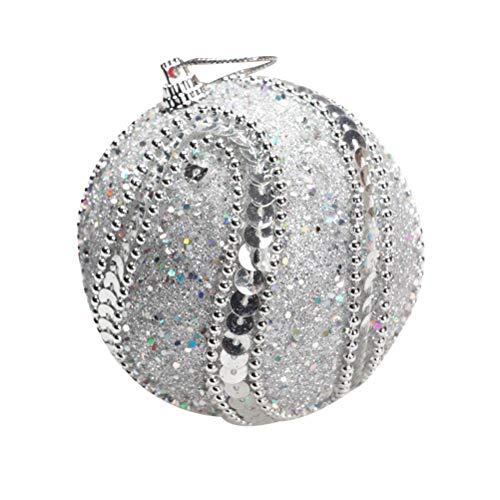 ifundom, palline decorative per Halloween, decorazioni natalizie, ideali per feste e banchetti (argento)