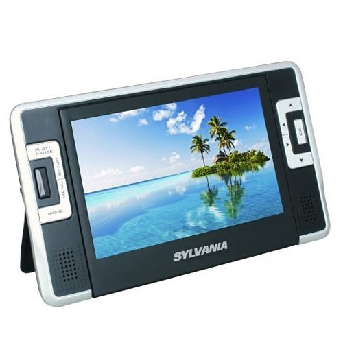 Best Review Of Sylvania SDVD8730 7 Inch Dual Screen Portable DVD/CD/MP3 Player, with USB/SD Card Rea...