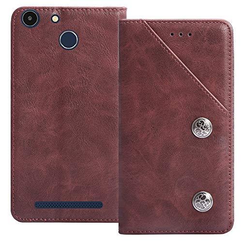 YLYT Flip TPU Silikon Rot Schutz Hülle Hülle Für Archos 50f Helium Lite 5 inch Etui Leder Tasche Handyhülle Hochwertiges Stoßfeste Kartenfach Cover