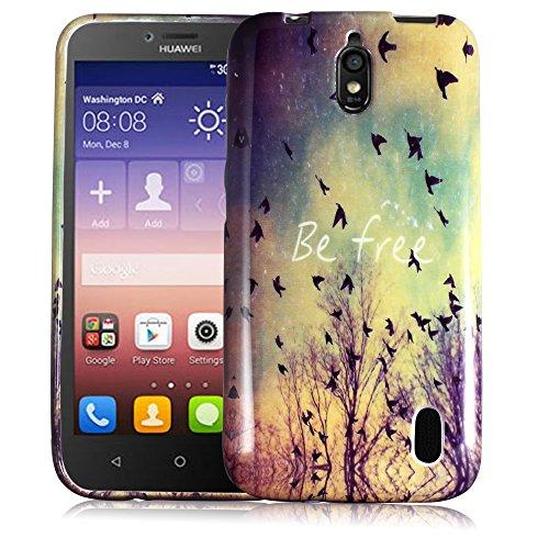 thematys Passend für Huawei Y625 BE Free Silikon Silikon Schutz-Hülle weiche Tasche Cover Hülle Bumper Etui Flip Smartphone Handy Backcover Schutzhülle Handyhülle