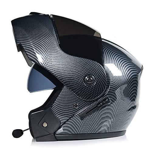 ABDOMINAL WHEEL Bluetooth Casco Moto,Casco Moto Modular ECE Homologado,Doble Visera Casco Moto Abatible,Unisexo para Motocicleta Bicicleta Scooter Cascos de Moto Modulares F,XL=(60~61)