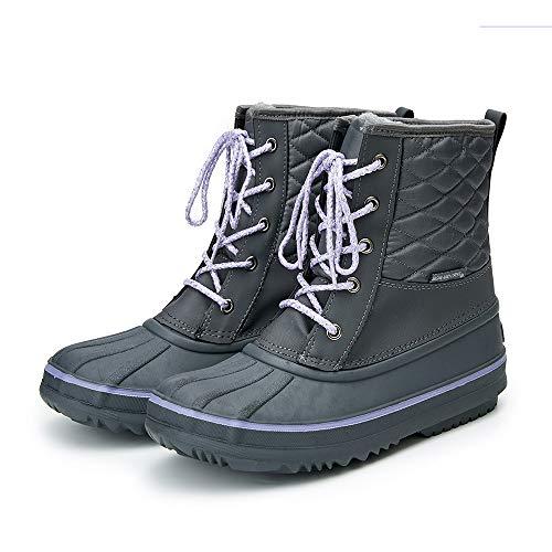 QHGao enkellaarzen voor jongens en meisjes, antislip buitenschoenen in koud weer, speciale anti-Ski laarzen, veter dikke schoenen, zachte Touch, sterke hygroscopiciteit, geschikt voor dagelijks leven