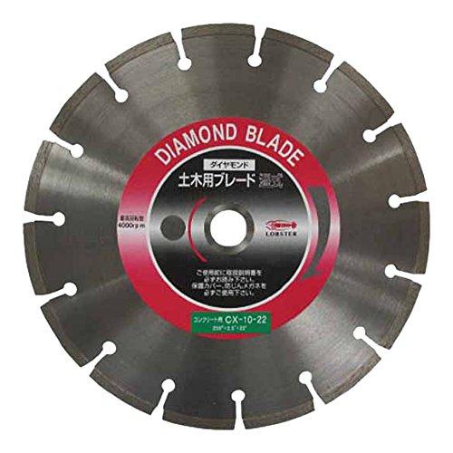 エビ ダイヤモンドカッターコンクリート用 10インチ 22パイ CX1022