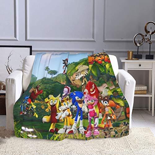 Set regalo di Natale Coperte da letto divertenti in pile, Sonic Boom Rise of Lyric Game Poster Coperte natalizie, Coperta ipoallergenica Super Soft Cold Fit Pavimento per climi freddi 80x60 pollici