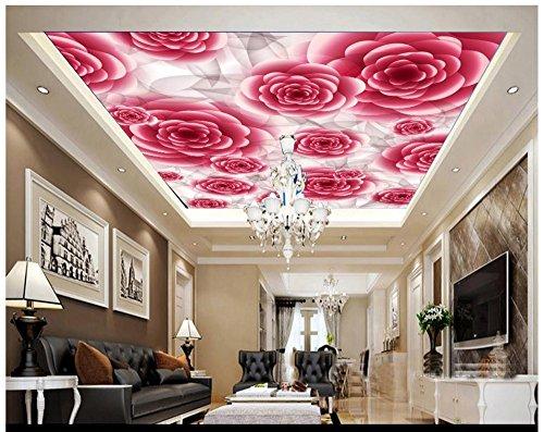 Mznm 3d Photo Wallpaper 3d Ceiling Murals Wallpaper Romantic Flower Frescoes 3d Wallpaper Home Decor 350x250cm Buy Online In Dominica At Dominica Desertcart Com Productid 88736082