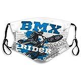 Dust Mouth Shield bmx rider urban team freestyle bike trial Geometric Earloop Cover