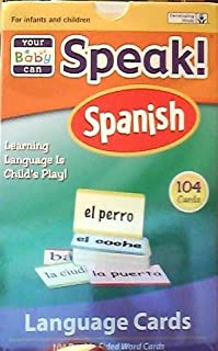 Your Baby Can Speak Spanish: 104 Double Sided Word Cards