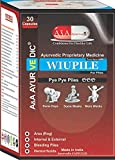 Wiupile Ayurvedic medicines for Piles/Hemorrhoids/Itching/Remove Lumps,Stops Bleeding & Reduces Pain - 30 capsules