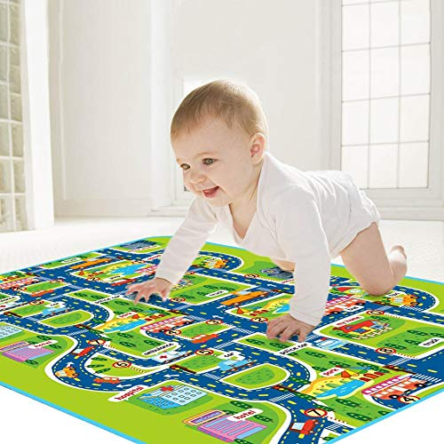 Baby Krabbeldecke Krabbeltraum Verdickte Babymatte Umweltschutz für Kinder Feuchtigkeit sbeständig Isomatte oder Picknickdecke 160x130cm