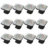 rodde Estilo magnífico gabinete de cerámica perillas Tire manijas para Muebles Armario cajón Armario Cocina baño,Flor de Caballo Flamenco