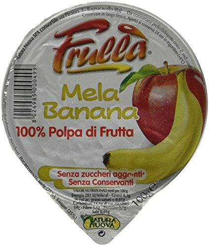 Frullà Vaschetta di frutta frullata 100% polpa di frutta MELA E BANANA 18 pezzi X 100Gr.