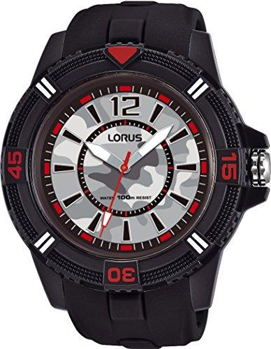 Lorus Sport Herren-Uhr Edelstahl und Kunststoff mit Silikonband RRX43FX9