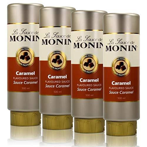 4x Monin Caramel Sauce 500 ml - Caramel Flavoured Sauce