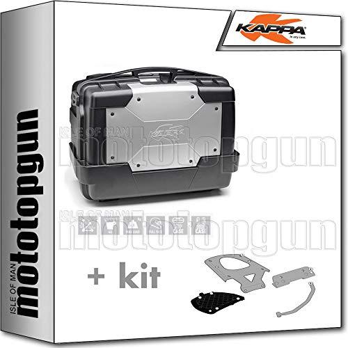 kappa maleta kgr46 garda 46 lt + portaequipaje monokey compatible con benelli trk 502 x 2020 20
