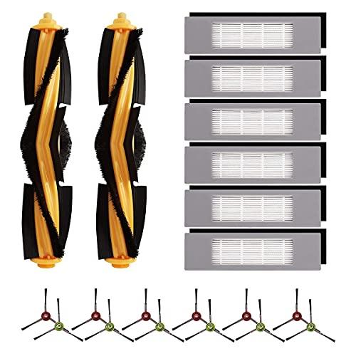 Kuinayouyi Piezas de repuesto para Deebot OZMO T8, T8 Max, T8 AIVI,Robot Aspirador Accesorios Kit Filtros de Cepillo