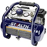 Stealth Ultra Quiet Air Compressor, Only 60 Decibel 2 Gallon Peak 3/4 HP Max 125 PSI Portable Air Compressor, Oil-Free Air Pump, 1.8 CFM @ 90 PSI Electric Air Compressor for Garage Innovation Work