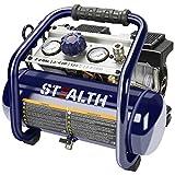 Stealth Ultra Quiet Air Compressor, Only 60 Decibel 2 Gallon Peak 3/4 HP Max 125 PSI Portable Air Compressor, Oil-Free Air Pump, 1.8 CFM @ 90 PSI Electric Air Compressor for Garage Innovation Work