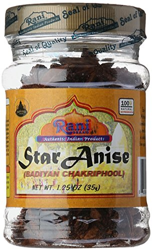 Rani Brand Authentic Indian Products Anis estrellado 1,25 oz (35 g) - Jar
