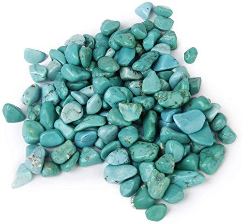 MERSUII(R) 100G Trommel Türkis Kristall Steine für Mosaik Kunst Zuhause Handgefertigte Dekor
