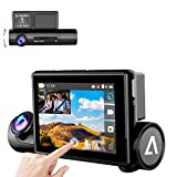 "Aneken Dash Cam, Sony Super Night Vision Sensor Inside, 170° Wide Angle, 3.0"" OLED Dual 1080P FHD Touch Screen, WiFi GPS Car Driving Recorder WDR G-Sensor,Front & Interior Dash Camera for Car"