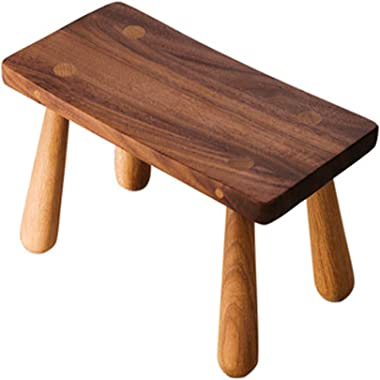FUHBO Stool, with Light Oak Finish High Wooden Kitchen Seat Suitable for Breakfast Bar Tables Tea Table Low Footstool Breakfast Pub Counter Café Kitchen Household Bathroom