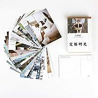 30 sheets/セットクリエイティブ 凍結時間はがき/グリーティングカード/メッセージカード/誕生日の手紙封筒 ギフトカード 二つのサイズ