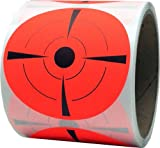 InStockLabels.com Shooting Targets Range Pasters Fluorescent Red 3 Inch Circle 100 Total Adhesive Stickers