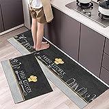 HLXX Tappetino da Cucina Stoviglie Modello Ingresso Zerbino Porta del Bagno Tappetino Salotto Antiscivolo Antivegetativa Tappeti Lunghi A2 50x160cm